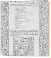 Cartouches, C1530 Wood Print