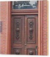 Carved Door Wood Print
