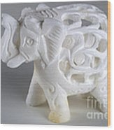 Carved Elephant Wood Print