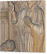 Carved In Wood Wood Print