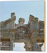 Carved Marble Of The Monumental Gate Wood Print by Tracey Harrington-Simpson