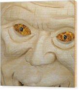Carved Pumpkin Face Wood Print