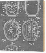 Carved Pumpkin Patent Wood Print