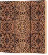 Carved Wooden Cabinet Symmetry Wood Print