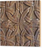 Carved Wooden Door In The Tsminda Sameba Cathedral Tbilisi Wood Print