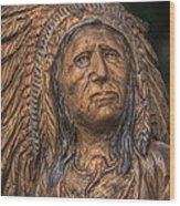 Carved Wooden Indian Wood Print