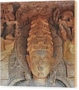 Statue At The Temple Of The 64 Yoginis - Jabalpur India Wood Print
