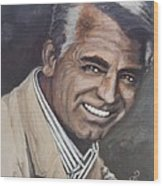 Cary Grant Wood Print by Shirl Theis