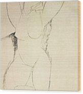 Caryatid Wood Print