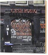Casa Rosso Amsterdam Wood Print