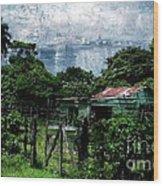 Casa Verde  Wood Print