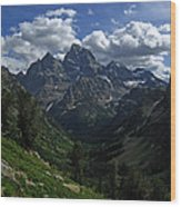 Cascade Canyon North Fork Wood Print