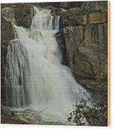 Cascade Creek Under The Bridge Wood Print by Bill Gallagher