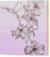 Cascade Dogwood Wood Print
