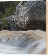 Cascade In The Bavarian Alps Wood Print