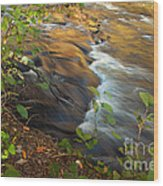 Cascade in the Fork River Wood Print