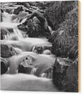 Water Fall In Slow Motion Wood Print