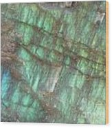 Cascade Of Green Wood Print