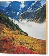 Cascade Pass Peaks Wood Print