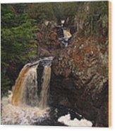 Cascade River Wood Print