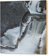 Cascades At Kent Falls Wood Print