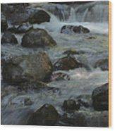Cascades Wood Print by Heike Ward