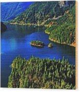 Cascades Lake Wood Print