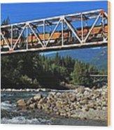 Cascades Rail Bridge Wood Print
