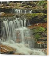 Cascading Everywhere At Ricketts Glen Wood Print