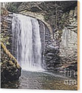 Cascading Into A Pool Wood Print