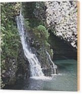 Cascading Waterfalls Wood Print