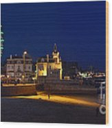 Cascais By Night - Portugal Wood Print