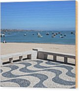 Cascais Promenade And Bay In Portugal Wood Print