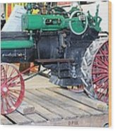 Case Steam Tractor Wood Print