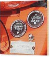 Case Tractor Gauge 1953 Wood Print