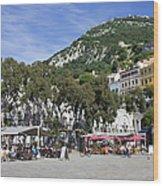 Casemates Square In Gibraltar Wood Print