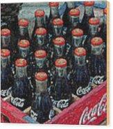 Classic Case Of Coca Cola Wood Print