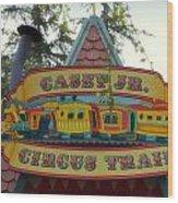 Casey Jr Circus Train Fantasyland Signage Disneyland Wood Print