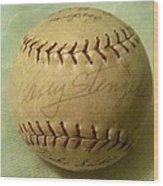 Casey Stengel Baseball Autograph Wood Print
