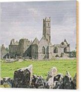 Cashel Abbey Wood Print