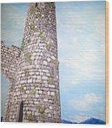 Cashel Tower Ireland Wood Print