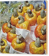 Cashew Fruit - Mercade Municipal Wood Print