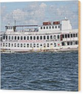 Casino Boat Coming Into Port Wood Print