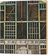 Casino In Multi-color Wood Print by Colleen Kammerer