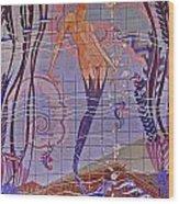 Casino Mermaid Wood Print