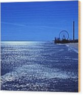 Casino Pier Seaside Heights Wood Print