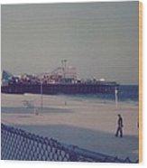 Casino Pier Seaside Heights Nj Wood Print by Joann Renner