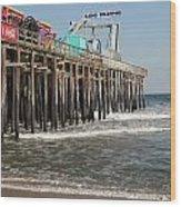 Casino Pier  Seaside  Nj Wood Print by Neal Appel