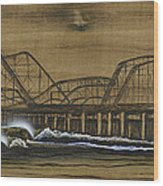 Casino Pier Tribute Wood Print by Ronnie Jackson