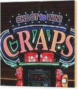 Casino Time Wood Print